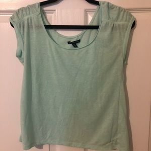 mint short sleeved shirt from american eagle